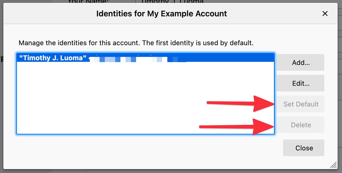 Thunderbird 007 Default Identity
